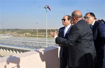 الرئيس السيسي: محطة معالجة مياه الصرف الصحي تتكلف 18 مليار جنيه