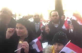 استقبال حافل للرئيس السيسى من المصريين بالنمسا | فيديو