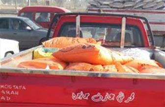 ضبط سيارة محملة بطن أسمدة زراعية مدعمة قبل بيعها بالسوق السوداء في الفيوم