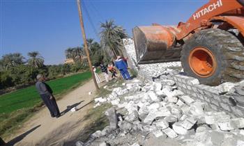 إزالة 8 حالات تعد على أراض زراعية بقرية البغدادى في الأقصر | صور