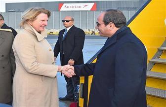الرئيس السيسي عبر تويتر وفيسبوك: سعادتى بالغة بزيارة النمسا التى تربطها بمصر علاقات وثيقة نطمح لتعزيزها