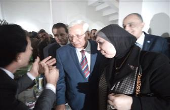 شاروبيم وجامع يفتتحان معرض منتجات المشروعات باستاد المنصورة   صور