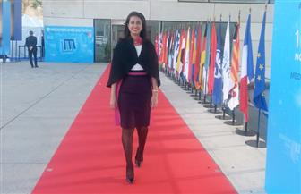 ماريان عازر تلقي كلمة في مؤتمر المتوسط عن الشباب والإبداع والتكنولوجيا بفرنسا