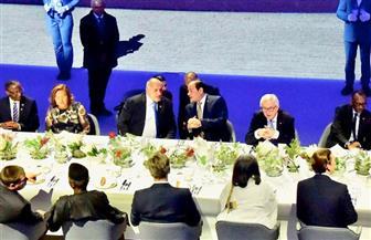 الرئيس السيسي يشارك في مأدبة عشاء على شرف رؤساء الدول المشاركة بالمنتدى الأوروبي الإفريقي | صور