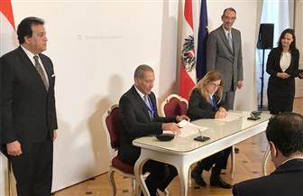 وزير التعليم العالي يشهد توقيع عقد شراكة بين جامعة فيينا الطبية وطب جامعة النهضة