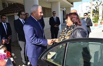 محافظ مطروح يستقبل وزيرة الثقافة لافتتاح مؤتمر أدباء مصر | صور