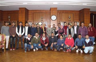 رئيس جامعة كفرالشيخ يعقد اجتماعا مع اتحاد طلاب الجامعة |صور