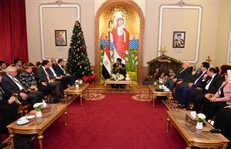 لجنة الشئون الإفريقية بالبرلمان تلتقي البابا تواضروس الثاني في مقر الكاتدرائية بالعباسية