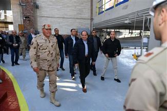 بسام راضي: جولة الرئيس السيسي بالعين السخنة وجبل الجلالة شملت مدينة الرخام والجرانيت| صور