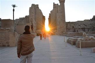 الشمس تتعامد على قدس أقداس معابد الكرنك في الأقصر| صور
