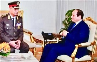 الرئيس السيسي يلتقي وزير الدفاع والإنتاج الحربي