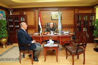 محافظ كفرالشيخ يستقبل السكرتير العام الجديد للمحافظة قبيل تولي مهام منصبه| فيديو