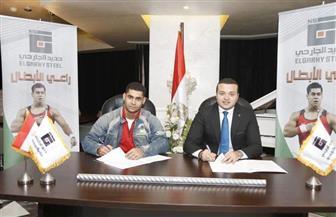 محمد إيهاب يوقع عقد رعاية حتى طوكيو 2020