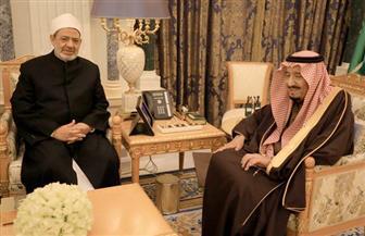"""""""بوابة الأهرام"""" ترصد رسائل الإمام الأكبر من السعودية   صور"""
