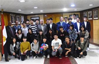 محافظ أسوان يستقبل وفدا طلابيا من اليابان  صور