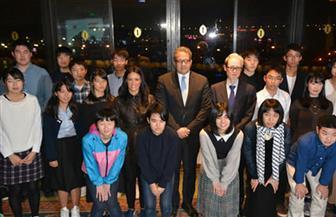وزيرة السياحة تلتقي وفد الشباب الياباني المتضررين من الفيضانات