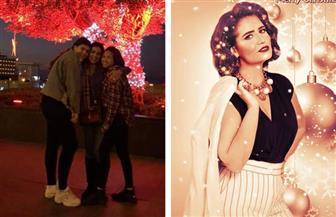 منافسة مشتعلة بين الفنانات احتفالا بالكريسماس | فيديو وصور