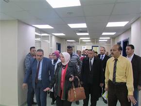 رئيسة هيئة التأمين الصحي تتفقد إنشاءات مستشفى التضامن بمحافظة بورسعيد | صور