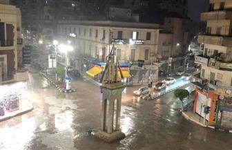 قطع الكهرباء وتوقف الصيد بسبب الأمطار الغزيرة على كفرالشيخ |صور