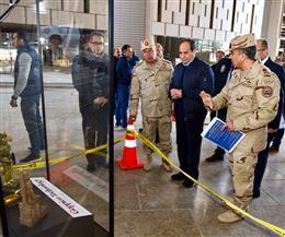 تفاصيل جولة الرئيس السيسي لتفقد محور روض الفرج والمتحف المصري الكبير