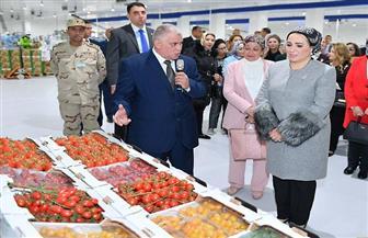 صفحة قرينة الرئيس تنشر صورا لزيارتها مشروع الصوب الزراعية بالعاشر من رمضان