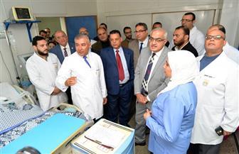 افتتاح تجديدات قسم الأمراض الصدرية بمستشفى جامعة المنصورة | صور