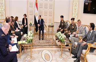 الرئيس السيسي يبحث مع وزيرة الجيوش الفرنسية تعزيز التعاون العسكري بين البلدين