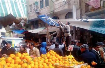 حملة مكبرة لإزالة التعديات بسوق زنانيري بالإسكندرية  صور