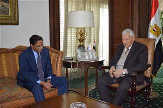 مكرم محمد أحمد يبحث مع سفير موريتانيا أوجه التعاون الإعلامي بين البلدين