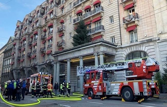 إخلاء فندق خمس نجوم في سويسرا بعد اندلاع حريق فيه -