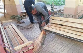 محافظ أسيوط: طلاب المدارس الفنية يصنعون مقاعد ومظلات ومعدات نظافة لتجميل المحافظة   صور