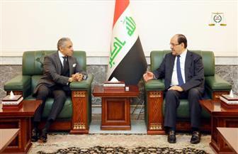 نوري المالكي يستقبل سفير مصر في العراق