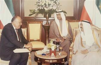 وزير الخارجية يلتقي أمير دولة الكويت في مستهل زيارته