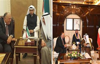 وزير الخارجية يلتقي جابر الصباح ورئيس مجلس الأمة الكويتي