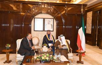 وزير الخارجية يستعرض نتائج الإصلاح الاقتصادي بمصر خلال لقائه برئيس وزراء الكويت| صور
