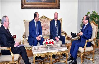 الرئيس السيسي يستقبل رئيس جهاز الاستخبارات الوطنية الأمريكي