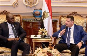 طارق رضوان يستقبل سفير جنوب السودان بالقاهرة