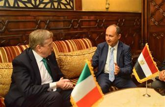 افتتاح فعاليات منتدى الأعمال المصري - الأيرلندي بمشاركة عدد كبير من رجال الأعمال  صور