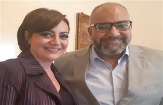 """هبة عبد الغني تحتفل بانتهاء تصوير """"حشمت في البيت الأبيض"""""""