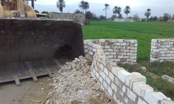 المنوفية: إزالة 131 حالة تعد على الأراضي الزراعية