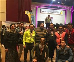 جامعة الزقازيق تفوز بـ 15 ميدالية ذهبية وفضية ببارالمبياد الجامعات المصرية |صور