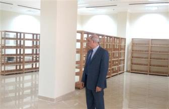رئيس جامعة كفر الشيخ يتفقد تجهيز المكتبة المركزية طبقا للمعايير الدولية