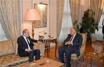 شكري يعقد مُباحثات مع نظيره الأردني بشأن التعاون الثنائي ومستجدات الساحتين العربية والإقليمية|صور