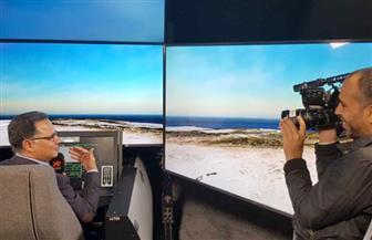 شركة بوينج للطائرات تحتفي بزيارة شريف عامر لكابينة القيادة للمقاتلة F15