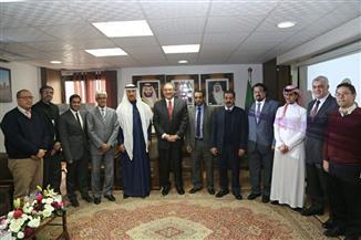السفير السعودي  يزور مقر الملحقية الثقافية بالقاهرة  صور