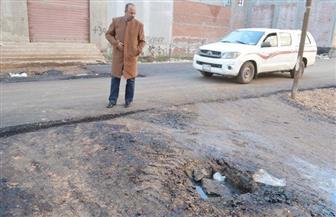 رئيس مركز مطوبس يتابع سيرالعمل بمنظومة النظافة وأعمال الرصف بالشوارع | صور