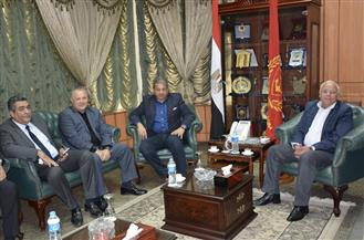محافظ بورسعيد يلتقي وزير الرياضة ورئيس اتحاد الكرة