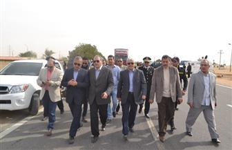 محافظ السويس وقيادات أمنية يتفقدون كمائن عيون موسي جنوب سيناء   صور