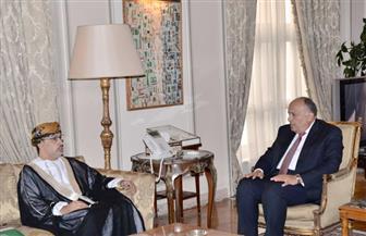 شكري يستقبل نائب رئيس البرلمان العربي ويناقشان آخر المستجدات في اليمن وسوريا وليبيا | صور
