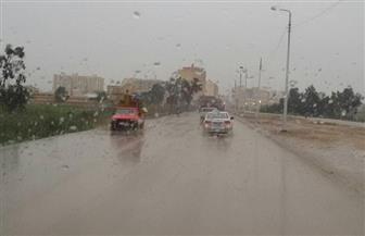 أمطار غزيرة تغرق مدن وقرى كفرالشيخ وتتسبب في قطع الكهرباء  صور